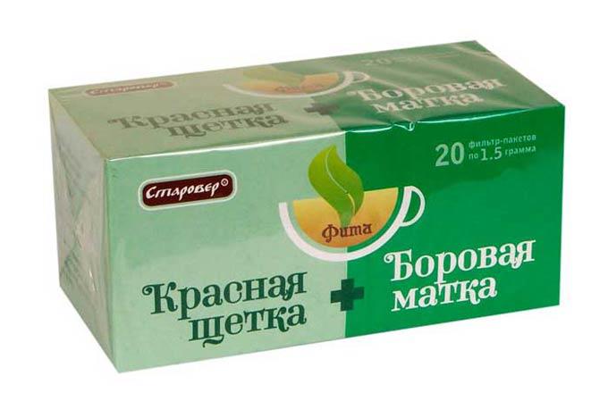 чай с красной щетки