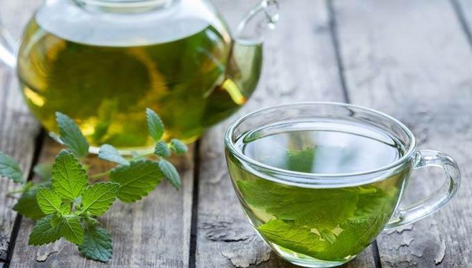 чай с мелиссой и мятой