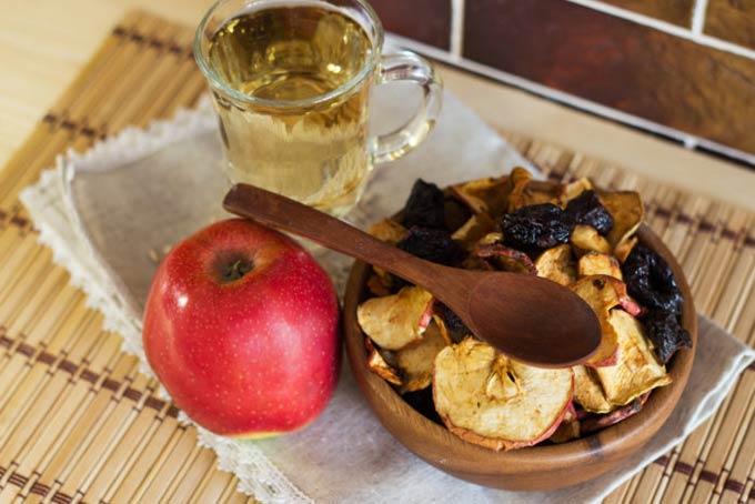 мюсли и яблоки после кесарева